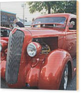1936 Plymouth Two Door Sedan Front And Side View Wood Print