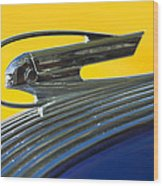 1936 Pontiac Hood Ornament 2 Wood Print