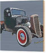 1936 Rat Rod Chevy Pickup Wood Print