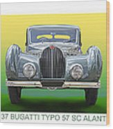 1937 Bugatti 57 S C Atalante Wood Print