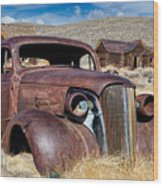 1937 Chevrolet Coupe At Bodie Wood Print