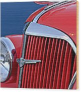 1937 Chevrolet Hood Ornament Wood Print by Jill Reger