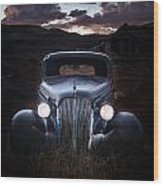 1937 Chevy At Dusk Wood Print
