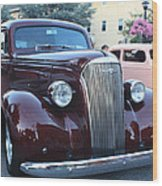 1937 Chevy Two Door Sedan Front And Side View Wood Print