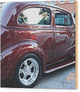 1937 Chevy Two Door Sedan Rear And Side View Wood Print