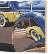 1937 Cord 812 Phaeton Reflected Into Packard Wood Print