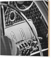 1937 Cord 812 Phaeton Steering Wheel Wood Print