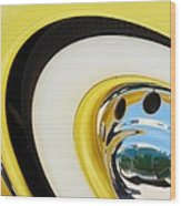 1937 Cord 812 Phaeton Wheel Rim Reflecting Cadillac Wood Print