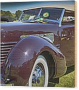 1937 Cord Phaeton Wood Print