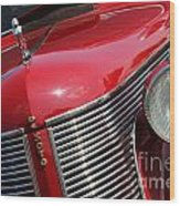 1937 Desoto Front Grill And Head Light 7285 Wood Print