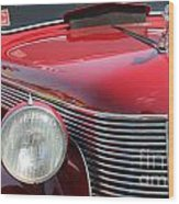 1937 Desoto Front Grill And Head Light-7289 Wood Print