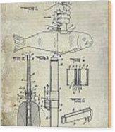 1937 Fishing Knife Patent Wood Print