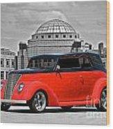 1937 Ford Convertible Sedan Wood Print