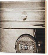 1937 Hudson Terraplane Pickup Truck Taillight Emblem Wood Print