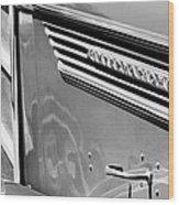 1937 International D-2 Station Wagon Side Emblem Wood Print