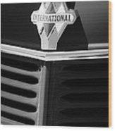 1937 International D2 Pickup Truck Grille Emblem Wood Print