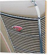 1937 Lincoln-zephyr Coupe Sedan Grille Emblem - Hood Ornament Wood Print