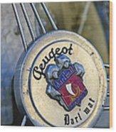 1937 Peugeot 402 Darl'mat Legere Special Sport Roadster Recreation Steering Wheel Emblem Wood Print