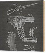 1937 Police Remington Model 8 Magazine Patent Artwork - Gray Wood Print