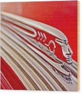 1937 Pontiac Chief Custom Hood Ornament Wood Print