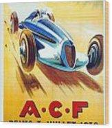 1938 - Automobile Club De France Poster - Reims - George Ham - Color Wood Print