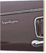 1938 Alfa Romeo 6c 2300 Touring Coupe Emblem Wood Print