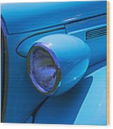 1938 Blue Plymouth Coupe Wood Print