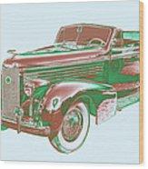 1938 Cadillac Lasalle Antique Pop Art Wood Print