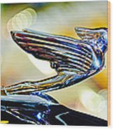 1938 Cadillac V-16 Hood Ornament 2 Wood Print by Jill Reger