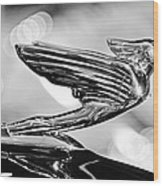1938 Cadillacv-16 Hood Ornament Wood Print