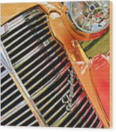 1938 Chevrolet Coupe Grille Emblems Wood Print