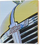 1938 Chevrolet Coupe Hood Ornament -0216c Wood Print
