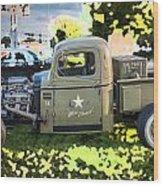 1938 Chevy Pick Up Truck Rat Rod Wood Print
