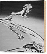 1938 Dodge Ram Hood Ornament -136bw46 Wood Print
