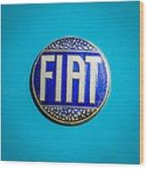 1938 Fiat 508c Berlinetta Speciale Emblem Wood Print