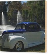 1938 Ford Coupe Hot Rod Wood Print