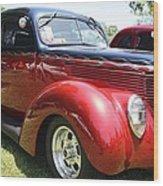 1938 Ford Two Door Sedan Wood Print