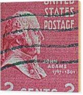 1938 John Adams Stamp Wood Print