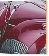 1938 Lincoln-zephyr Convertible Coupe Grille - Hood Ornament - Emblem Wood Print