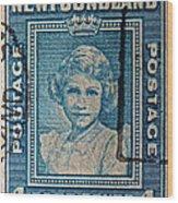 1938 Queen Elizabeth II Newfoundland Stamp Wood Print