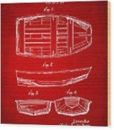1938 Rowboat Patent Artwork - Red Wood Print