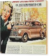 1939 - Plymouth Automobile Advertisement - Color Wood Print