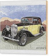 1939 Bentley Mark Four Sport Sedan Wood Print
