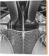 1939 Chevrolet Coupe Grille -115bw Wood Print