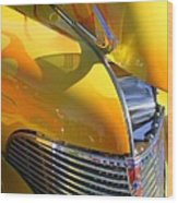 1939 Chevy Hood Wood Print