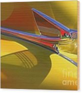1939 Chevy Hood Ornament Wood Print