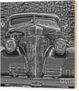 1939 Chevy Immenent Front Bw Art Wood Print