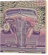 1939 Chevy Immenent Front Color Wood Print