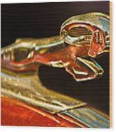 1939 Dodge Business Coupe V8 Hood Ornament Wood Print by Jill Reger