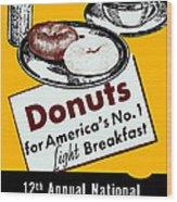 1940 Donut Poster Wood Print
